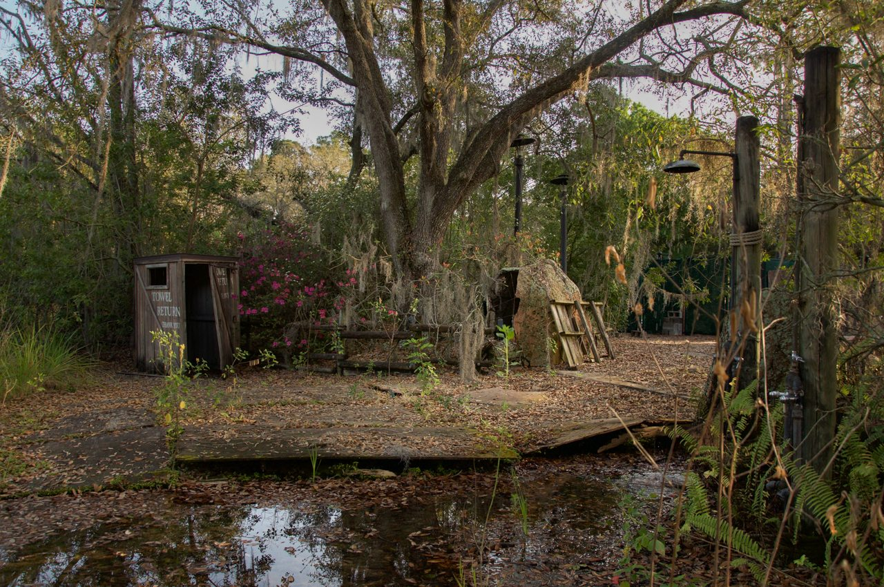 abandoned disney world water park by Seph Lawless images of Discovery Island and Banksy's dismaland