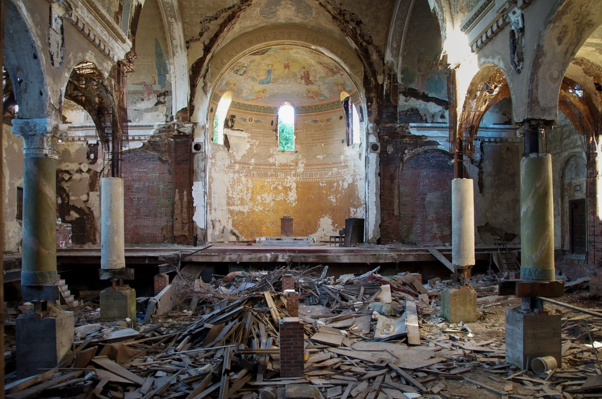 Autopsy of America by Seph Lawless photos of abandoned church in Cleveland